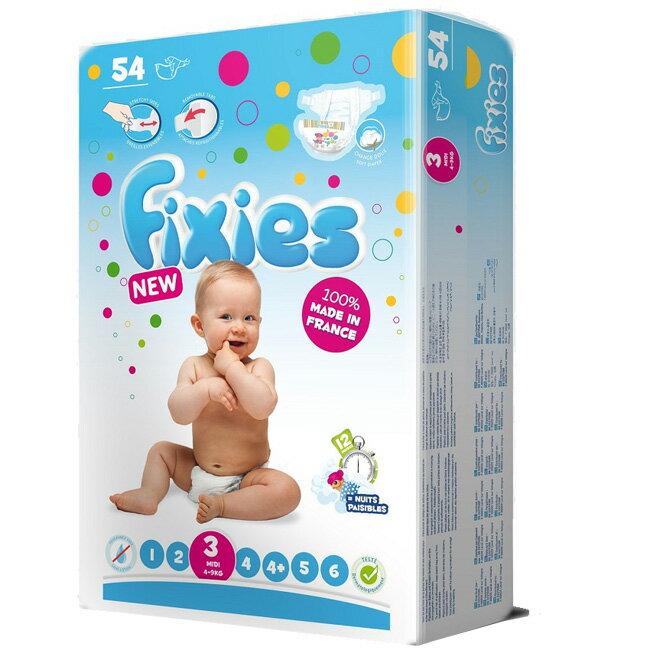【奇買親子購物網】Fixies 寶貝愛因斯坦嬰兒尿褲4-9kg(M)54