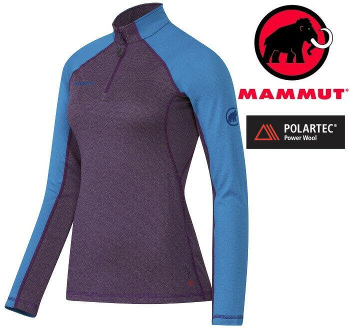 Mammut 長毛象 羊毛化纖排汗衣 Kira Pro 女款 Polartec Power Wool 1041-07310 6224 紫/藍