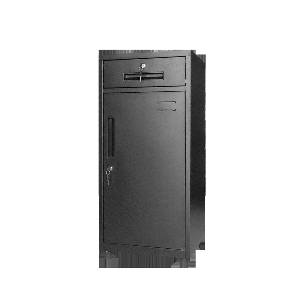 置物櫃 / 辦公櫃 / 鐵櫃 OP黑砂紋辦公置物小鐵櫃【TAW025】 1