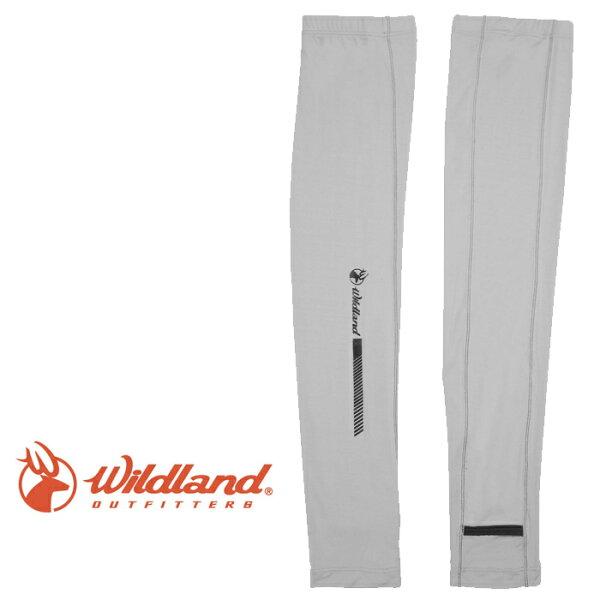 【Wildland荒野台灣】開洞透氣袖套抗紫外線袖套防曬袖套灰色(W1810-90)