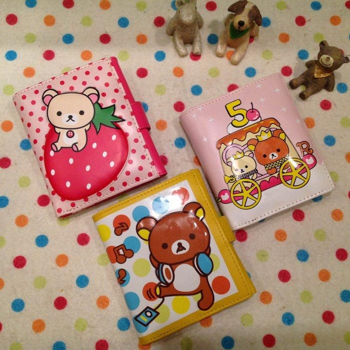 =優生活=拉拉熊 懶懶熊草莓拉拉 立體造型短夾 卡通拉拉熊皮夾造錢包