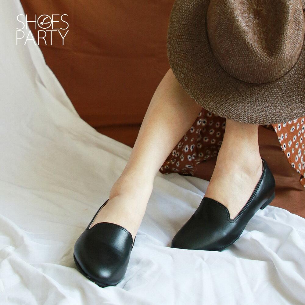 【C2-19908L】素面真皮歐貝拉_Shoes Party 0