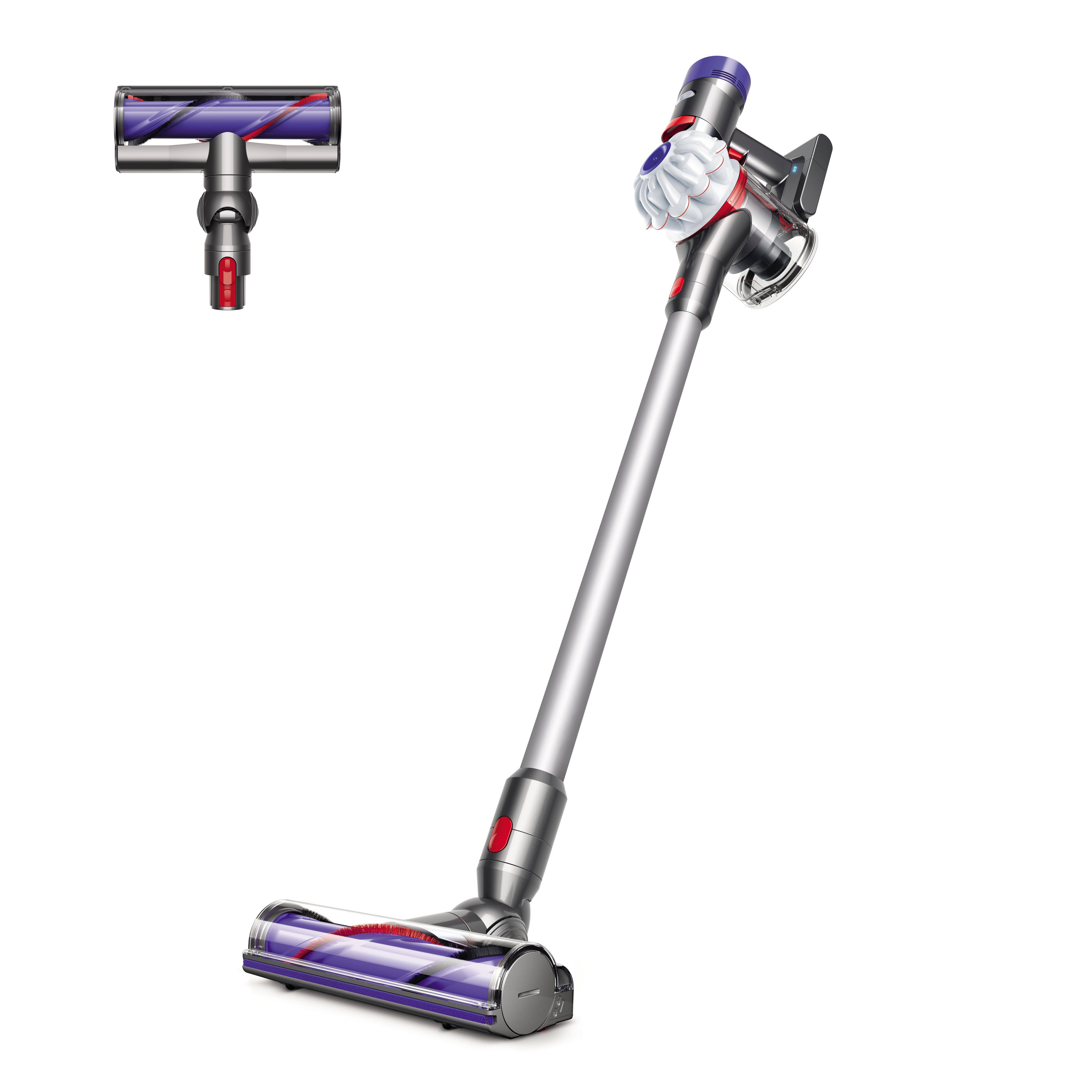 dyson direct inc dyson v7 hepa cordless vacuum white. Black Bedroom Furniture Sets. Home Design Ideas