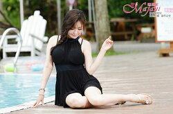 [瑪嘉妮Majani] 中大尺碼泳衣泳裝-超顯瘦修飾 遮肚屁 3XL~6XL 特價650 免運 ss-309