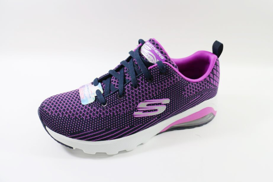 零碼SKECHERS女款 AIR-COOLED MEMORY FOAM-12721 NVPR [陽光樂活]