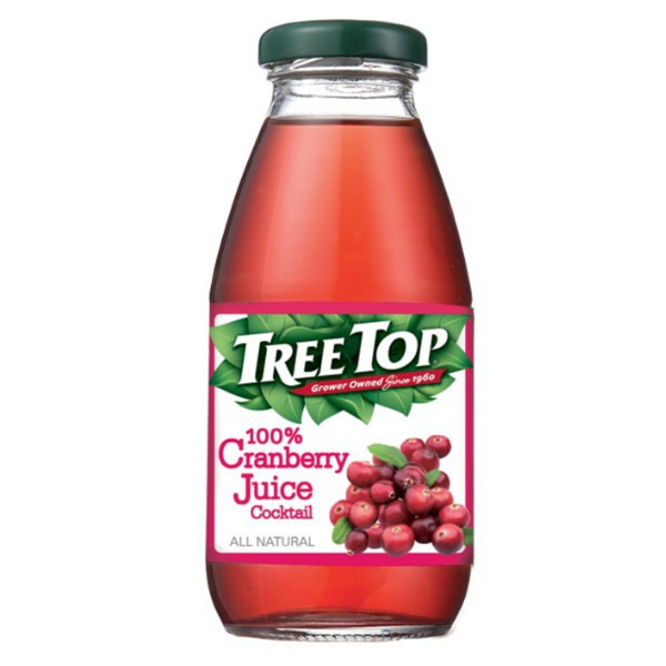 樹頂TREE TOP 100%蔓越莓汁 300ml x 24瓶 果汁 免運 優惠卷 水果汁 餐卷 瓶裝飲料 飲品 玻璃瓶 原汁 樹頂 (HS嚴選)