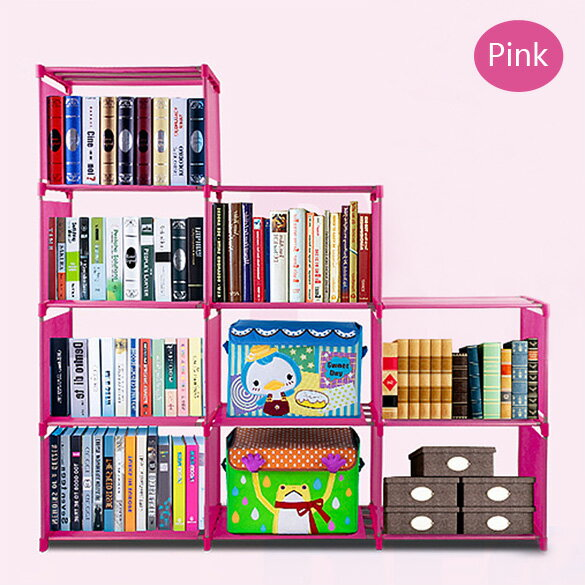 Adjustable Bookcase Storage Bookshelf with 9 Book Shelves 3