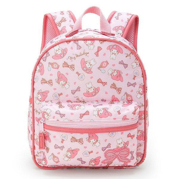 【真愛日本】16121600100輕量護脊後背包S-蝴蝶結飾品粉  三麗鷗家族 Melody 美樂蒂 後背包 兒童書包