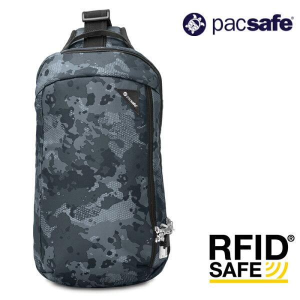 【Pacsafe澳洲】Vibe325多功能防盜斜背包-10L旅行防盜包迷彩60221802