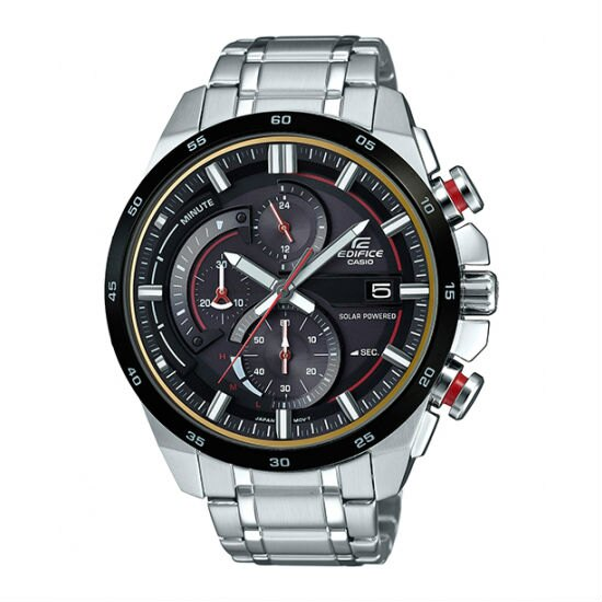 CASIO EDIFICE EQS-600DB-1A4 太陽能賽車時尚指針腕錶/黑面48mm