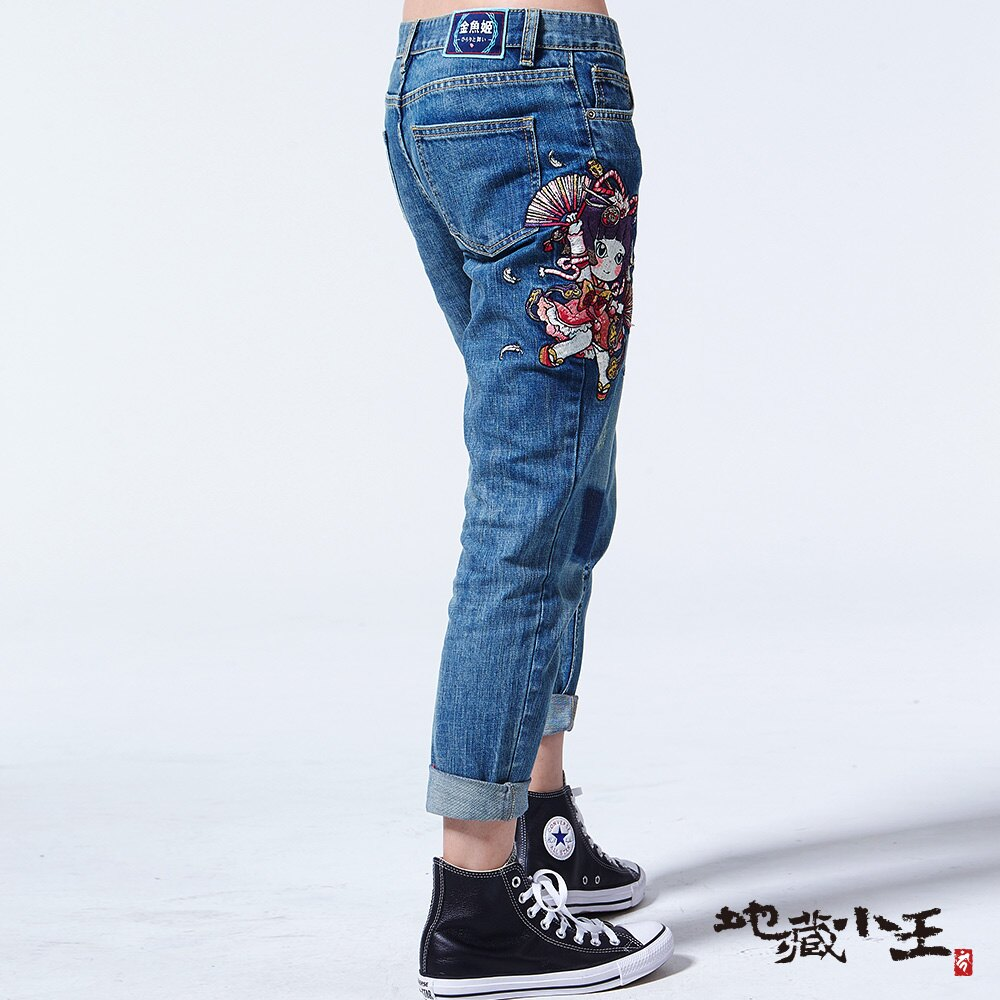【春夏新品】金魚姬舞扇羽毛男友褲(亮藍) - BLUE WAY  JIZO 地藏小王 2