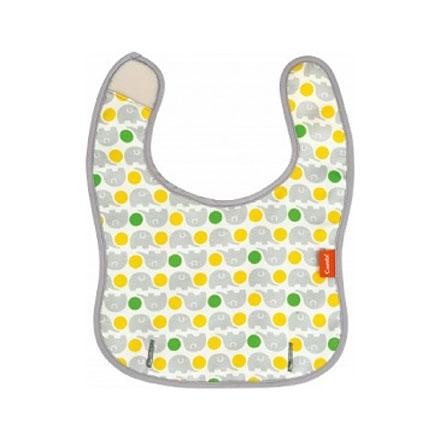 【悅兒樂婦幼用品?】Combi 康貝 Baby Label 新防污圍兜 (小灰象)