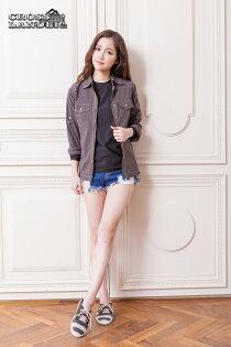 【縱橫者】女高彈力外套襯衫 單穿, 搭配帥氣單品 運動 慢跑 登山 休閒 台灣製作