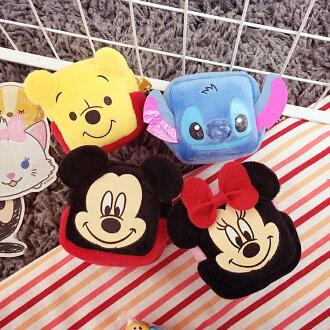 PGS7 迪士尼系列商品 - 迪士尼 絨毛 方型骰子 零錢包 隨身 收納包 米奇 維尼 史迪奇 米妮 小熊維尼