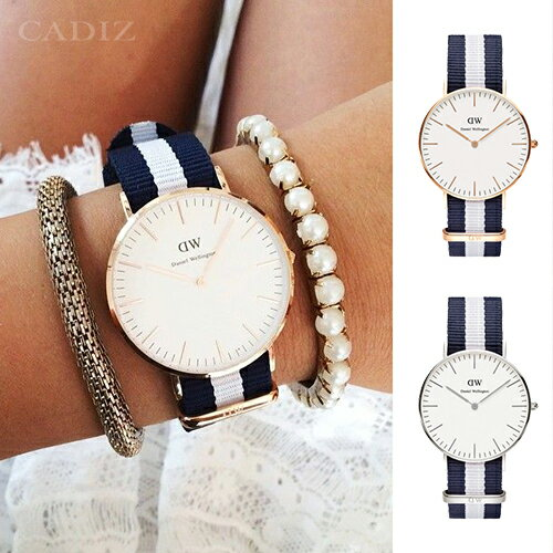 【Cadiz】瑞典DW手錶Daniel Wellington 0503DW	玫瑰金 0602DW銀 Glasgow 36mm [代購/ 現貨]
