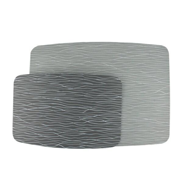 詰朵斯-(波浪紋)三層結構防滑切菜板2入