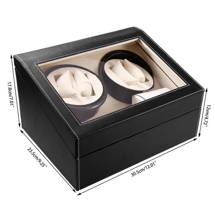 Automatic Watch Winder 4+6 Slot Leather Storage Rotation Case Display Box Organizer 0