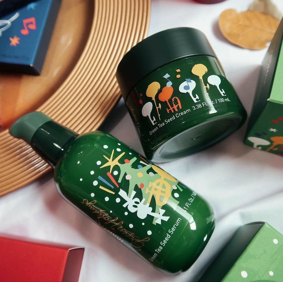 innisfree 2019 綠色聖誕 綠茶籽保濕系列 0