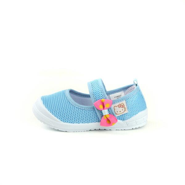 Hello Kitty 凱蒂貓 娃娃鞋 網布 水藍 中童 童鞋 718622 no759 5