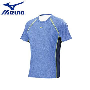 J2TA650524(新藍紫)NIGHT RUN系列 360度反光印刷男路跑T恤 【美津濃MIZUNO】