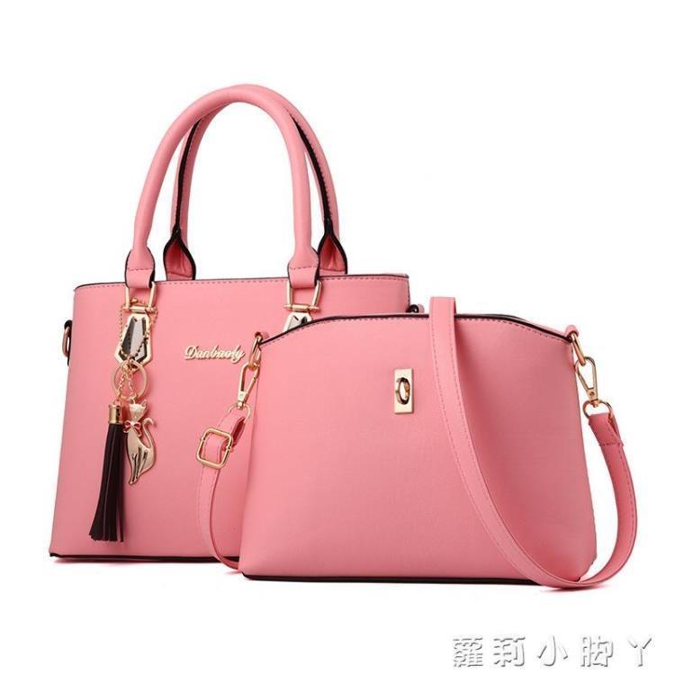女包包新款時尚大氣手提包簡約百搭2021春夏斜挎單肩媽媽包大容量