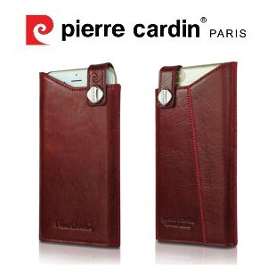 [ iPhone6/6S ] Pierre Cardin法國皮爾卡登4.7吋高級牛皮抽取式真皮手機套/保護套/皮套 紅色