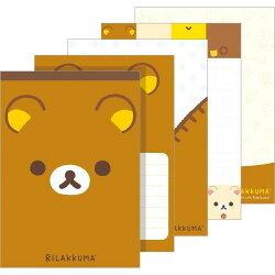 【真愛日本】18022400017 日製懶熊新版大便條-大臉咖 san-x 拉拉熊 懶熊 便條紙 便條本