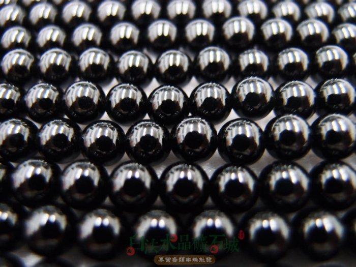 白法水晶礦石城 瑪瑙 老黑玉髓 黑瑪瑙 6mm 色澤-全黑 特級品 串珠/條珠  首飾材料