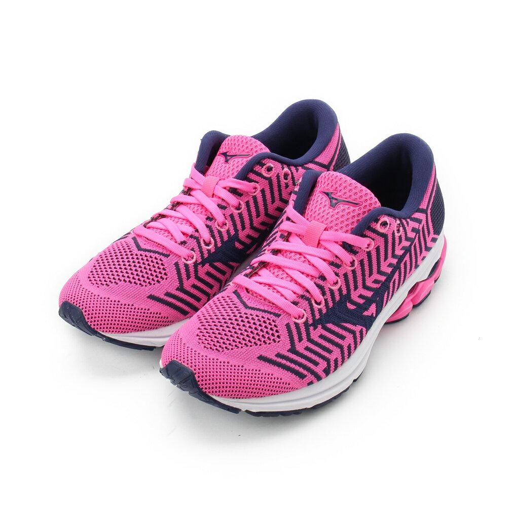 MIZUNO WAVEKNIT R2 慢跑鞋 桃 J1GD182911 女鞋