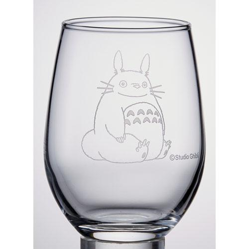 【真愛日本】16081500002日本製精雕水晶杯-龍貓幸運草 龍貓 TOTORO 豆豆龍 水杯 玻璃杯 收藏 日本製