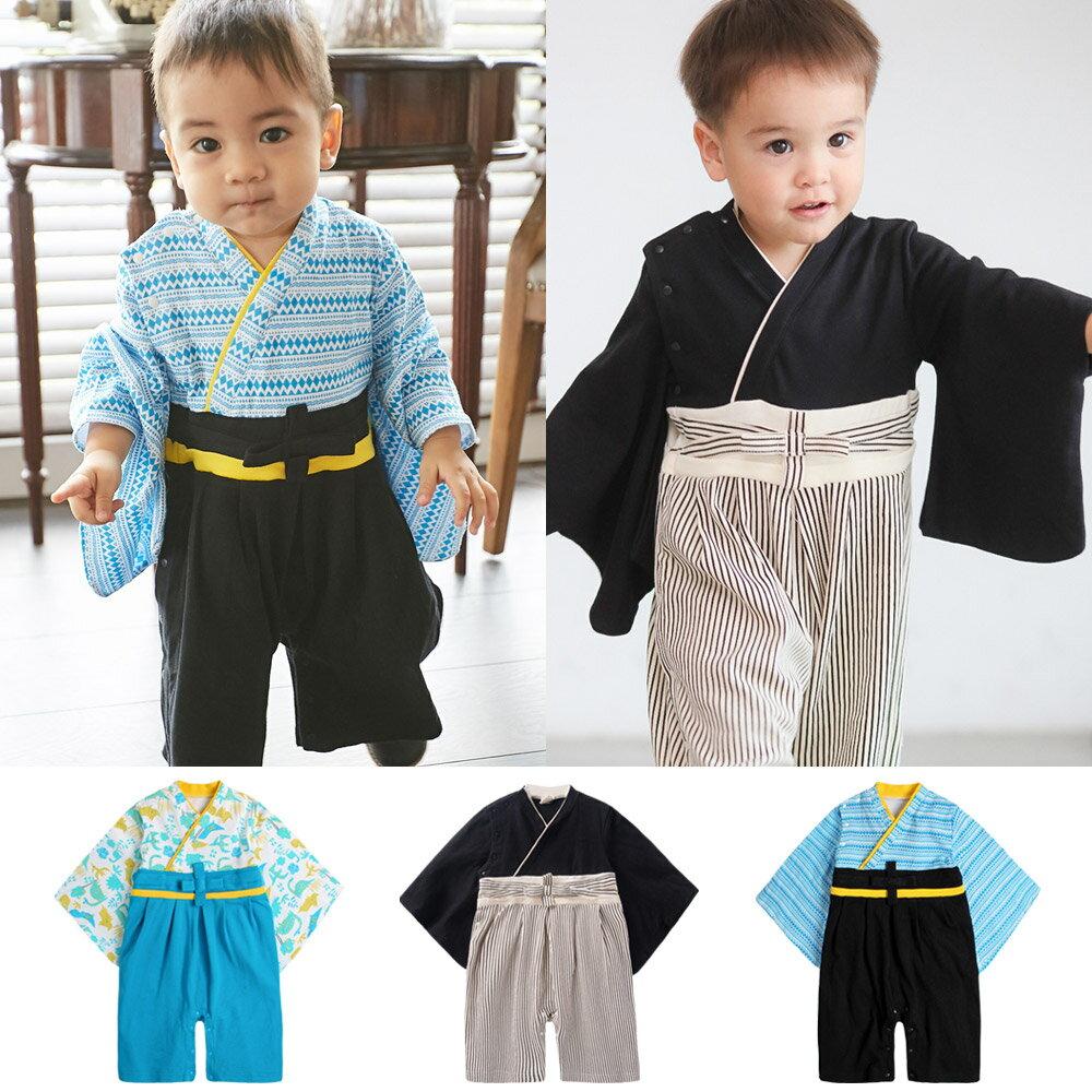 連身衣 日式 和服 造型服 男寶寶 爬服 哈衣 扮演服 派對 Augelute Baby 37303 0