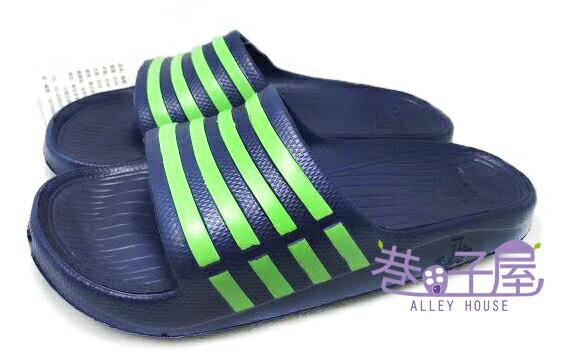 【巷子屋】JIMMY POLO 男/女款經典條紋超輕量拖鞋 [65002] 深藍 超值價$190