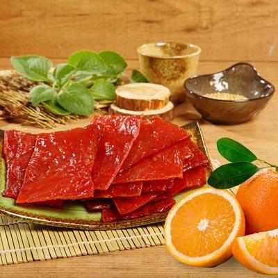 好客HAOKE:《好客-霽月肉鬆》柳橙肉乾(300g包),共兩包(免運商品)_A023011
