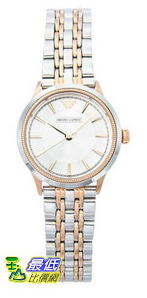 [COSCO代購 如果沒搶到鄭重道歉] Emporio Armani Classic 系列銀色玫瑰金不鏽鋼錶帶石英女錶 W941904
