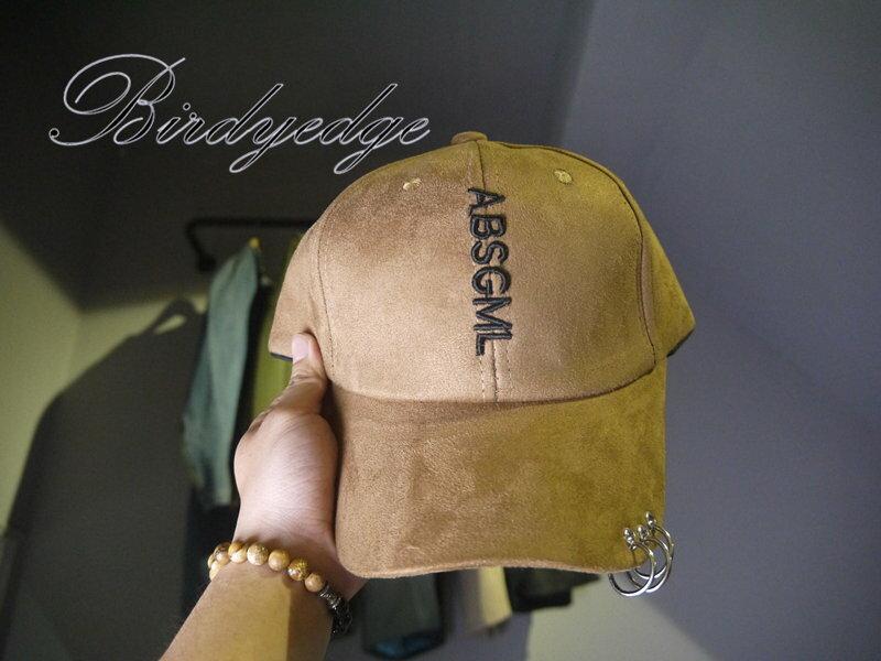 潮流老帽 麂皮 復古 扣環 五金 鐵圈 設計 帽子 品牌 歐美 字母 鴨舌帽 棒球帽 非nike af