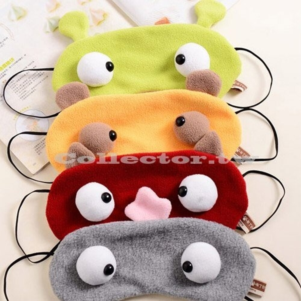 ✤宜家✤卡通護眼大眼睛怪獸遮光睡眠眼罩 (無冰熱敷墊) 遊戲 舞台效果 道具