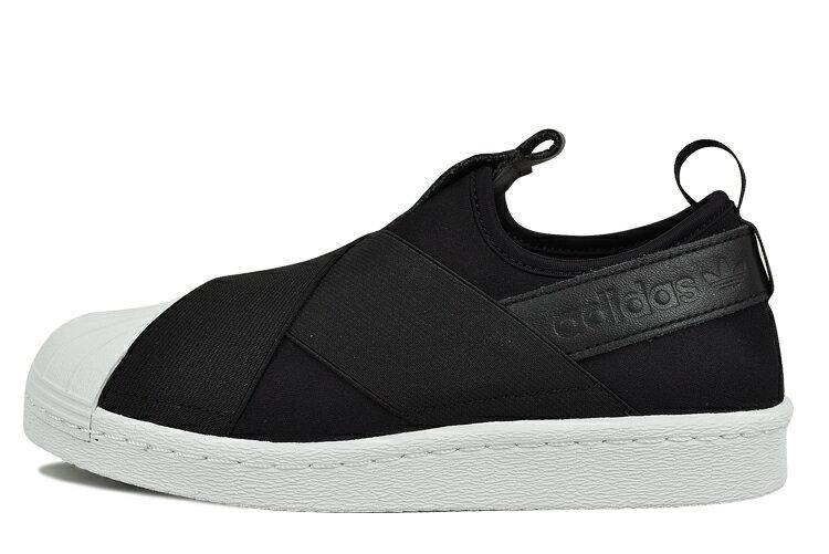 Adidas 一腳蹬 黑白武士 男女鞋