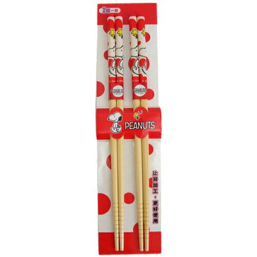 【真愛日本】150911000192入竹筷-SN&塔克紅  史奴比 史努比 SNOOPY  筷子  食器  日用品