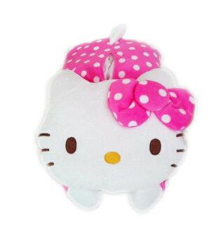 【真愛日本】15121700001趴姿面紙套-圓點桃 三麗鷗 Hello Kitty 凱蒂貓  面紙套 面紙盒 居家用品