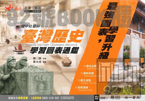 南一國中高手學習圖表通鑑-台灣歷史
