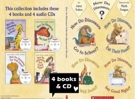 How do Dinosaurs Limited Collector's Edition(4書+4CD) - Scholastic 高年級