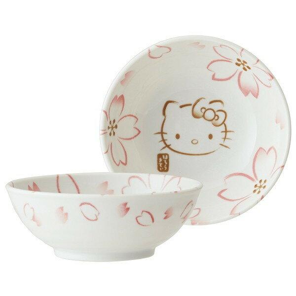 【真愛日本】16050500032日本製彩繪小碗-KT櫻花   三麗鷗 Hello Kitty 凱蒂貓   櫻花系列  杯盤組   日本製