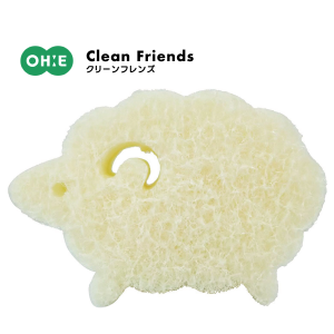 日本オーエ Clean Friends綿羊造型菜瓜布*日本製 0