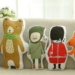 美麗大街【HB20160407】新款創意韓版抱枕全棉布藝時尚卡通動物圖案寶寶午睡神器