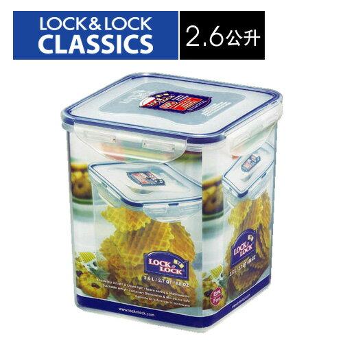 🌟現貨🌟【樂扣樂扣】CLASSICS系列高筒保鮮盒/正方形2.6L(HPL822B) 樂扣保鮮盒 2.6L 樂扣餅乾盒