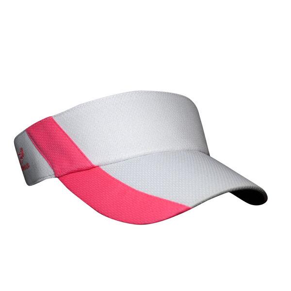 騎跑泳者-HEADSWEATS汗淂(全球運動帽領導品牌)UltraliteVisor中空遮陽帽白霓虹粉