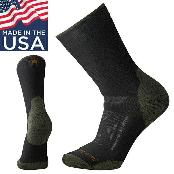 【Smartwool 美國】PhD Outdoor Heavy 重量級加厚避震墊中筒襪 美麗諾羊毛 登山襪 雪襪 男款 黑色 (SW001073001)