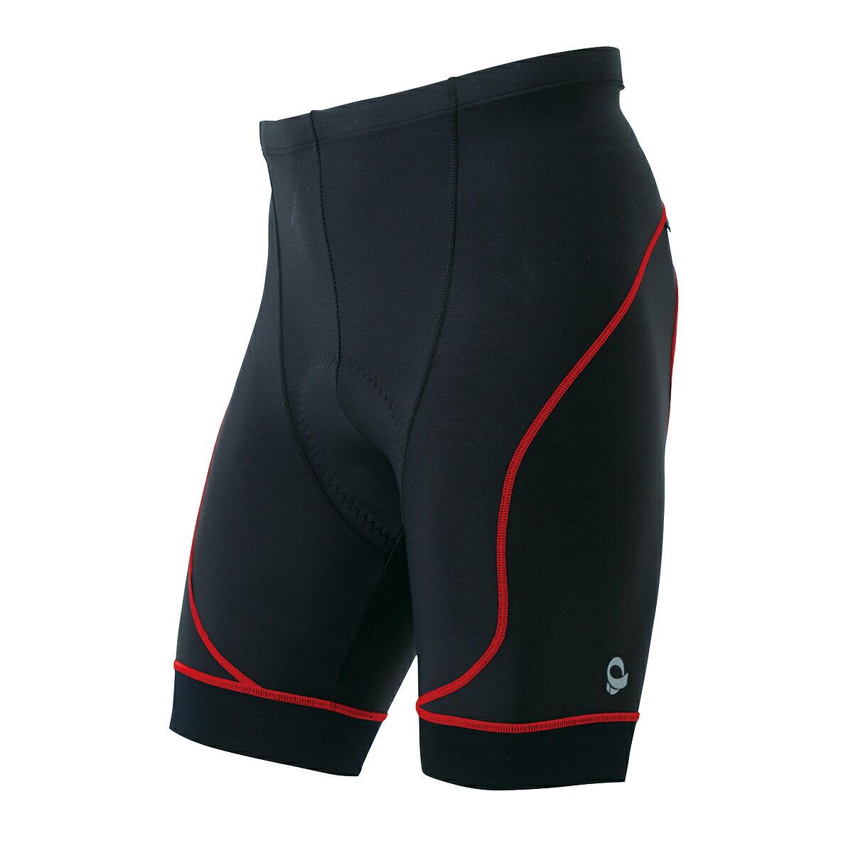 【7號公園自行車】日本 PEARL IZUMI 220-3D-7 男3D涼感抗UV短車褲(紅邊)