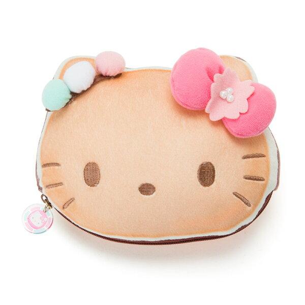 【真愛日本】18011200007超棉柔化妝包-KT春和果子ABS三麗鷗kitty凱蒂貓小物收納化妝包