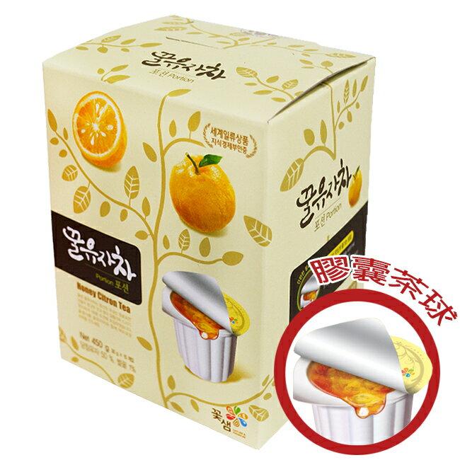 韓國꽃샘膠囊茶球禮盒30g×15顆-蜂蜜柚子茶/蜂蜜茶系列/可超取/果醬球/Honey Citron Tea〔網購家〕